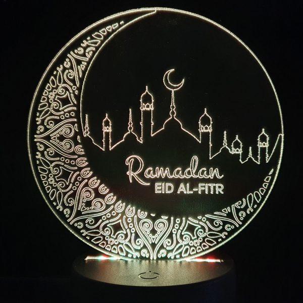 Ramadan Religion Kultur Fest Ballon Herzen Geschenk LED 2 Herzen mit Farbe Mod LED Farben RGB Leuchtet leuchten individuell Datum Liebe Jahrestag Name Acryl 3D Herz