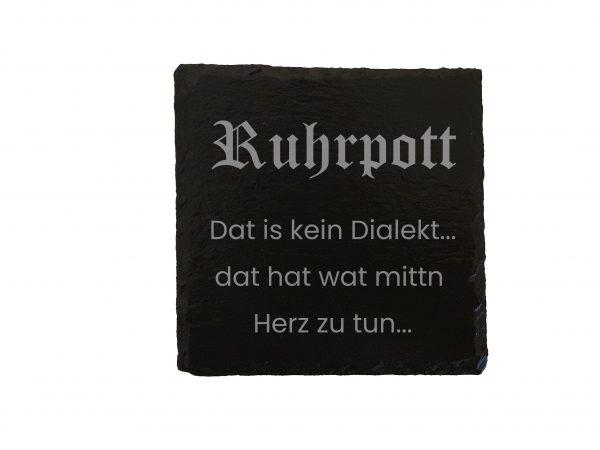 Ruhrpott Geschenk Trinken Saufen Untersetzer Bier Gravur Laser Schiefer Schieferplatte Auf Kohle Geboren Individuell Ruhrpott Dialekt